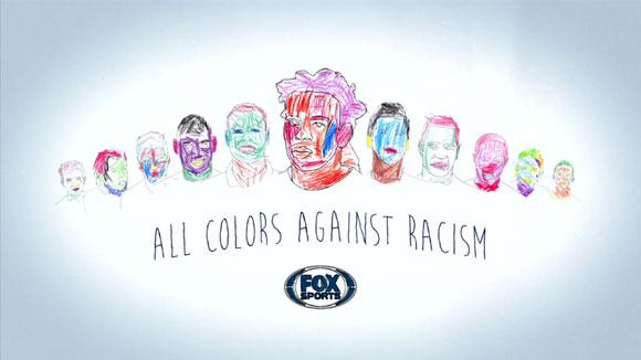 福克斯公益广告 反种族歧视的儿童绘画图片