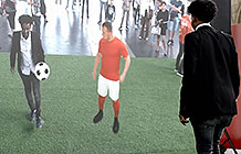 瑞士可口可乐2018世界杯AR创意活动 与球星一起踢球