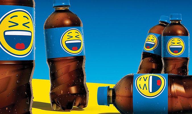 百事可乐emoji瓶子创意图片